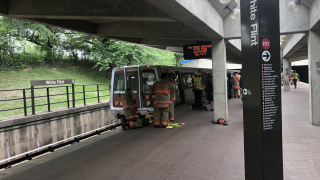 Person in critical condition after being struck, pinned underneath metro train in Rockville