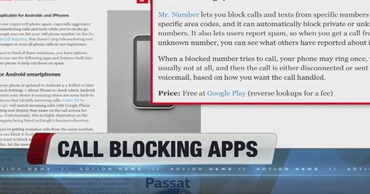 Apps help block spam callers