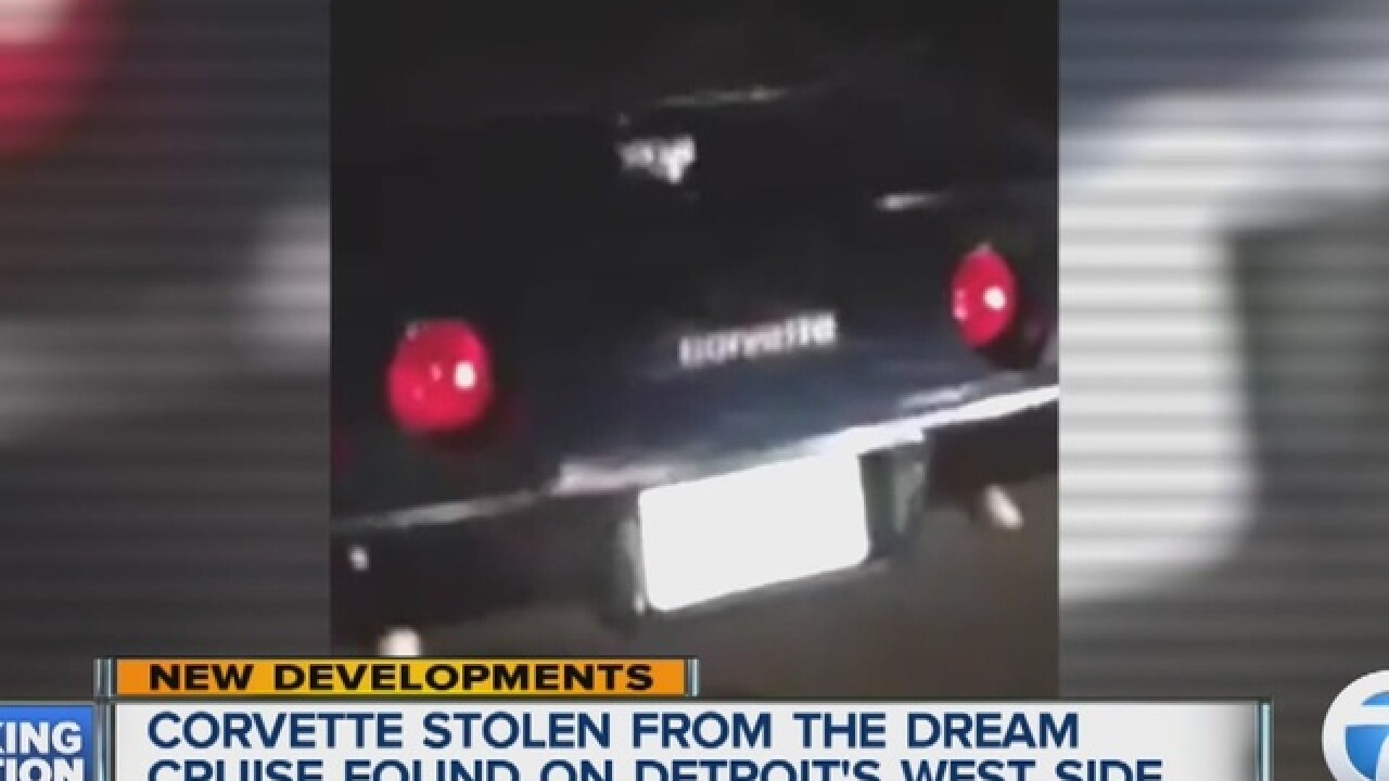 Stolen Dream Cruise Corvette found in Detroit