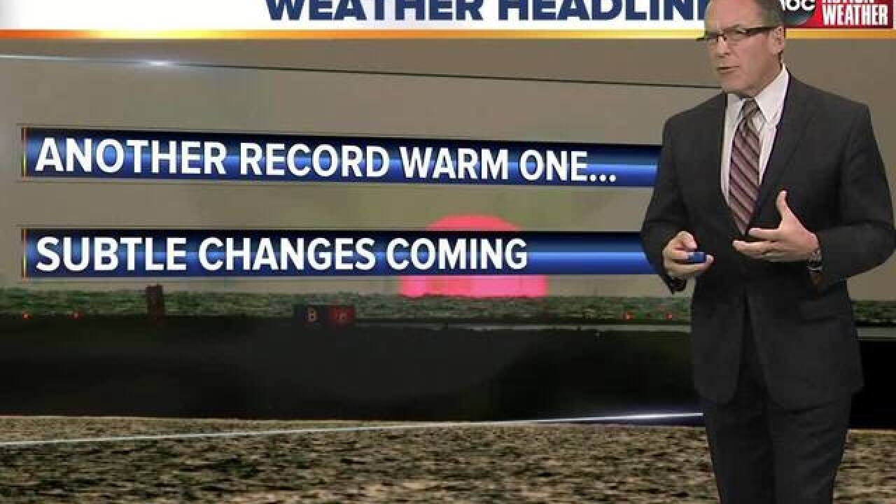 FORECAST: Another warm one on the way... but so too is a cold front!