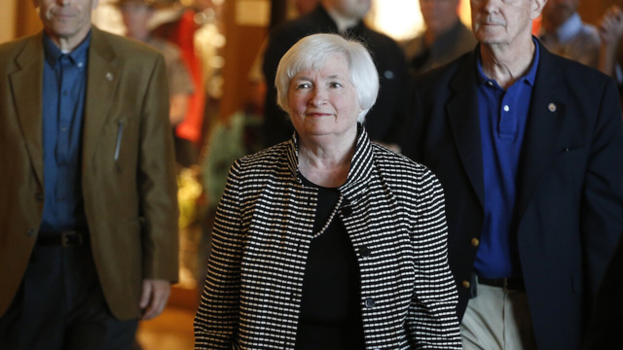 Federal interest rate hike possible, Janet Yellen says