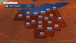 Heat Index July 18