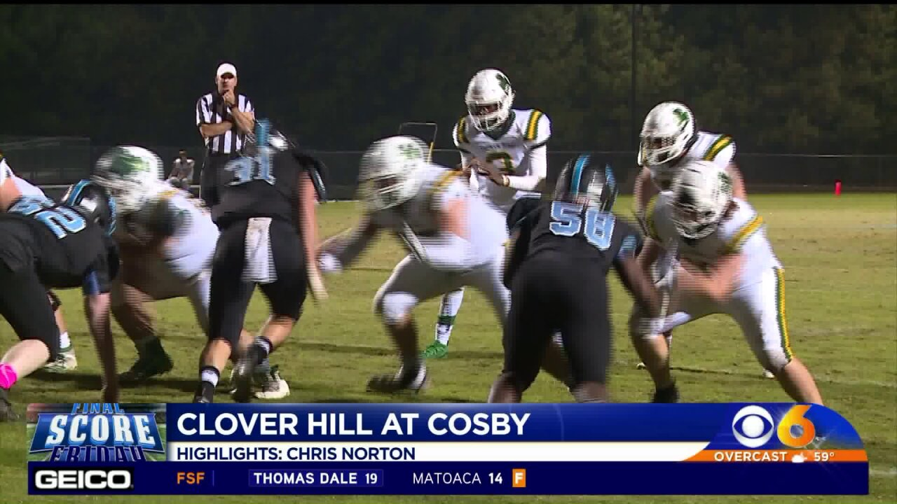 Clover Hill runs past Cosby31-14