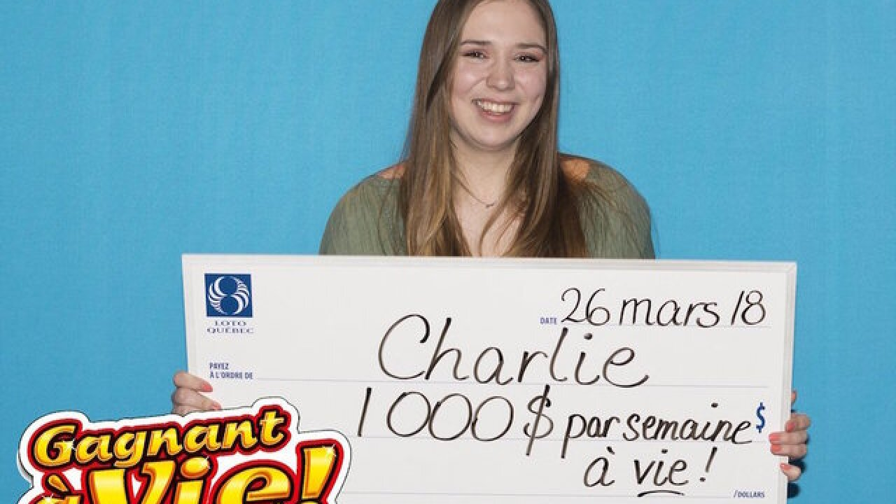 18-year-old wins $1,000 a week for life with her first-ever lottery ticket