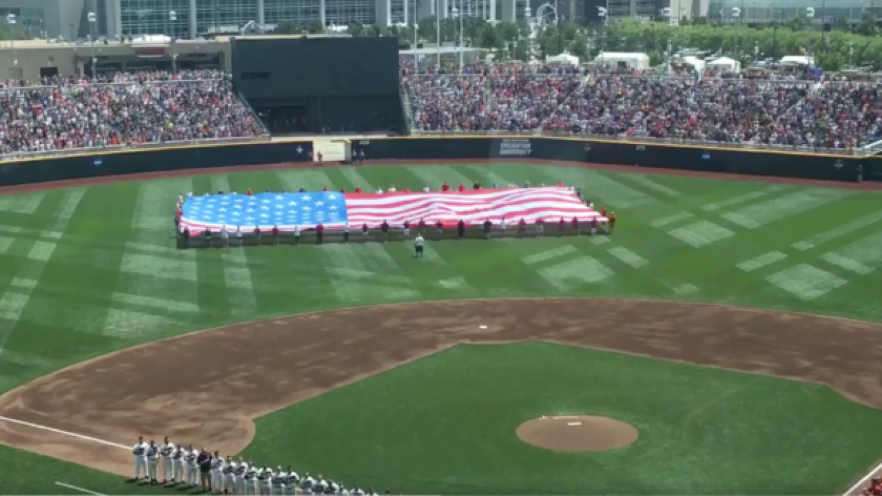 MUST SEE: View from the flyover during National Anthem of Game 1 of CWS