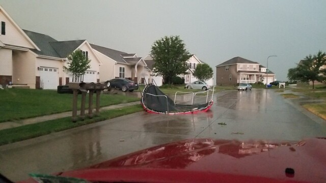 PHOTO GALLERY: A strong destructive storm rips through Omaha