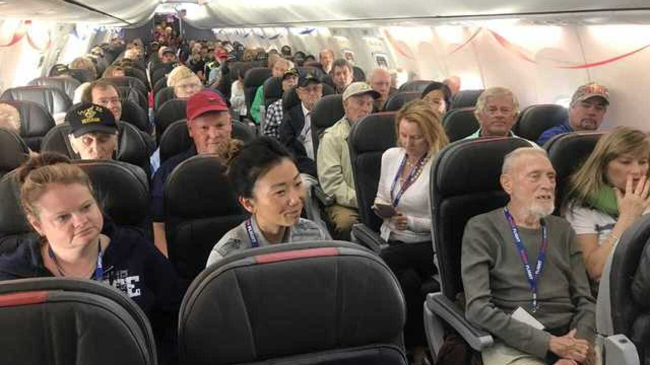 San Diego military vets board Honor Flight to DC