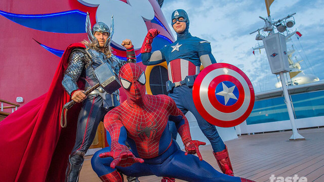 Marvel characters take over Disney Cruise Line