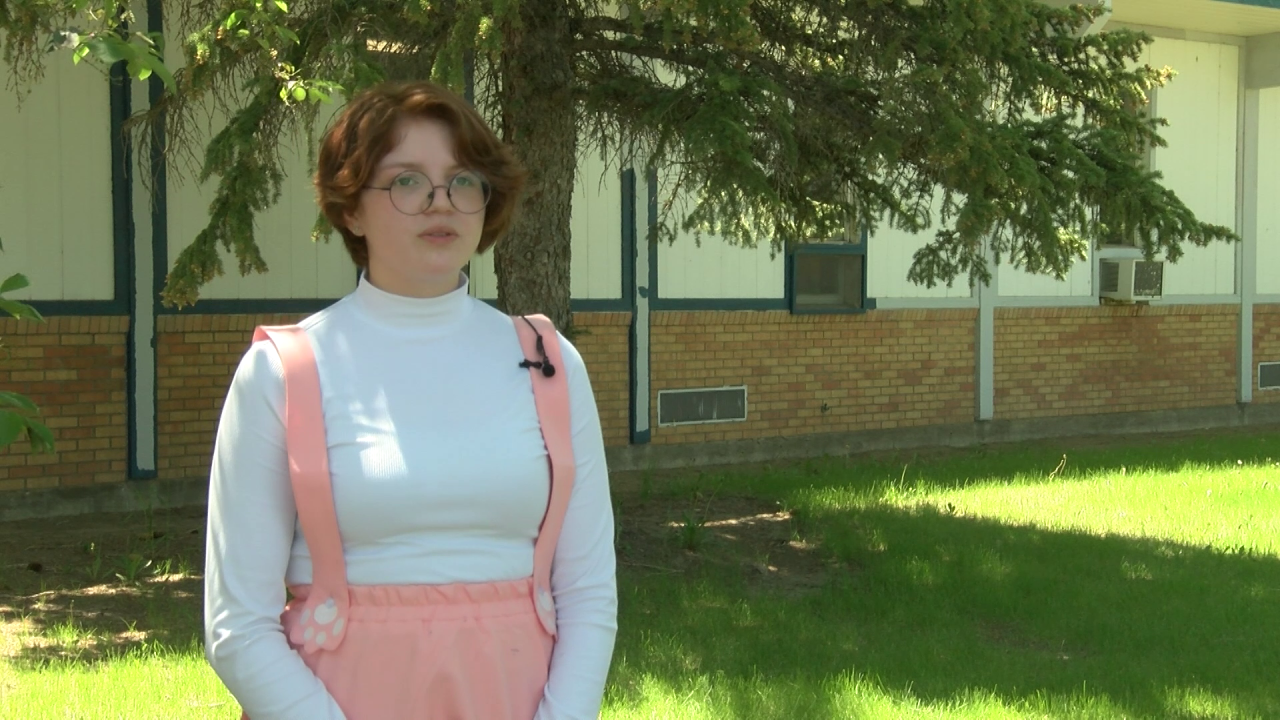 Faith Wells, senior at Box Elder High School