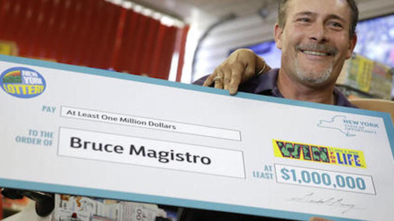 Man wins $1 mil again in state lottery