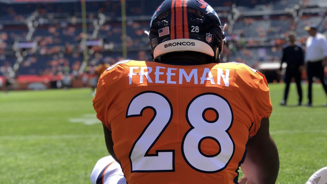 the latest c7c61 91426 Does Royce Freeman deserve more carries? Broncos offense ...