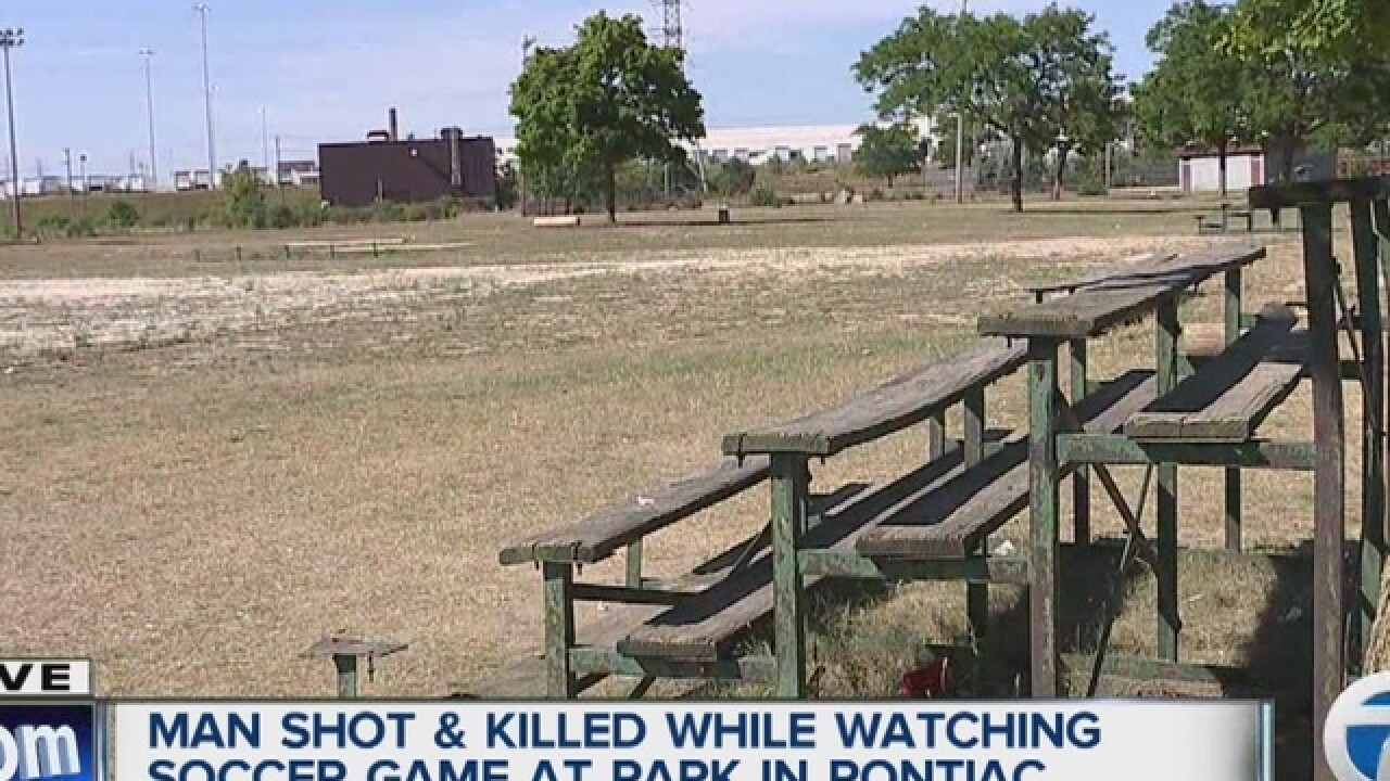Man shot & killed during soccer game in Pontiac