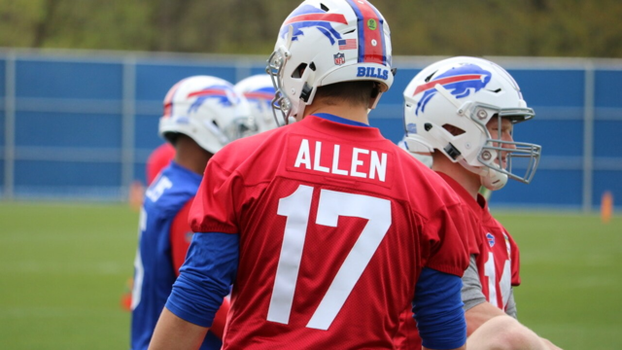 Buffalo Bills QB Josh Allen signs rookie contract