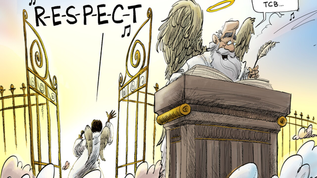 EDITORIAL CARTOON: Goodbye, Aretha