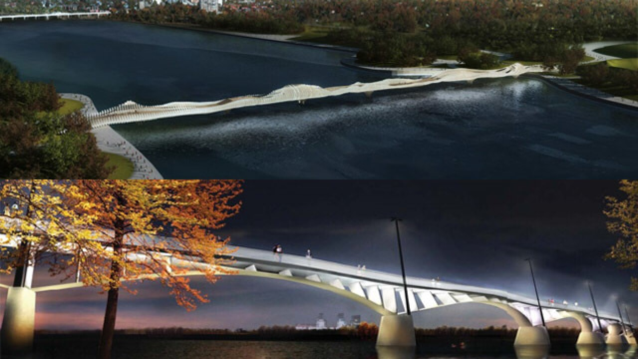 Design for Pedestrian Bridge narrowed