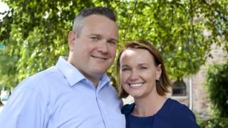 Josh Hicks with wife
