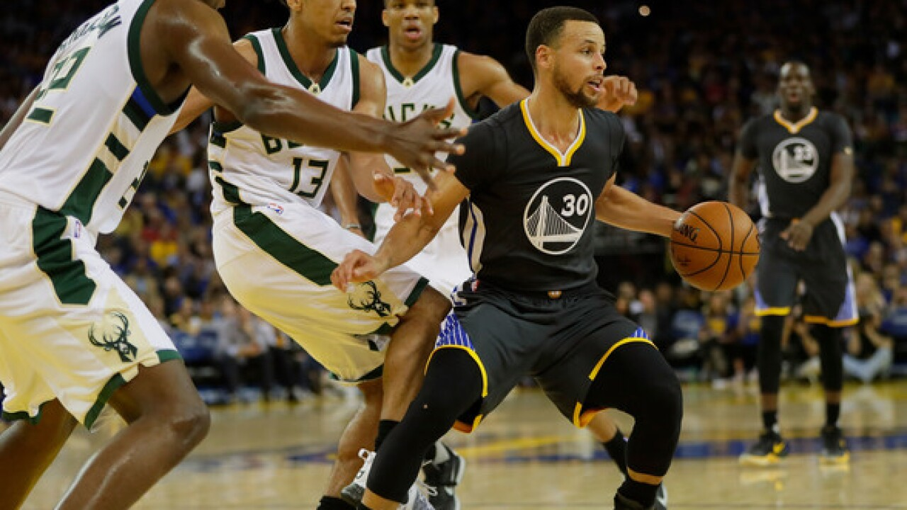 Reports: Golden State Warriors' Steph Curry out for game in Milwaukee vs. Bucks