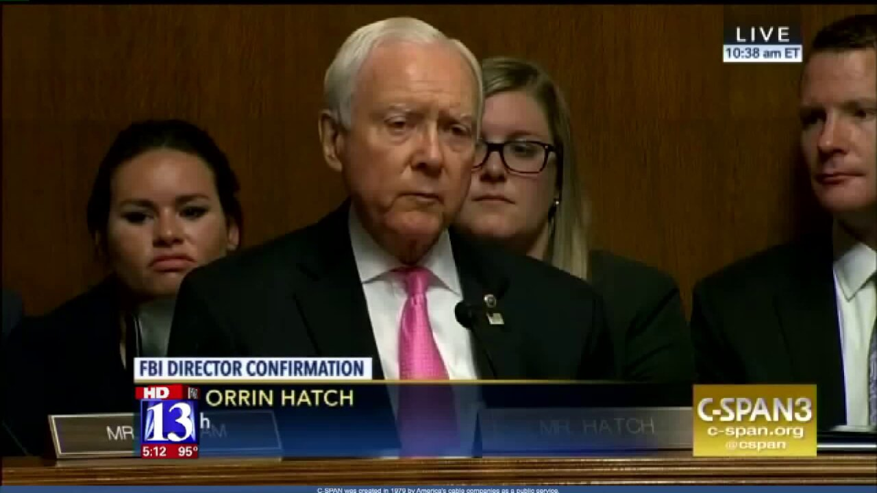 While Senators grill potential FBI chief on Russia, Hatch asks about cell phones and DNA