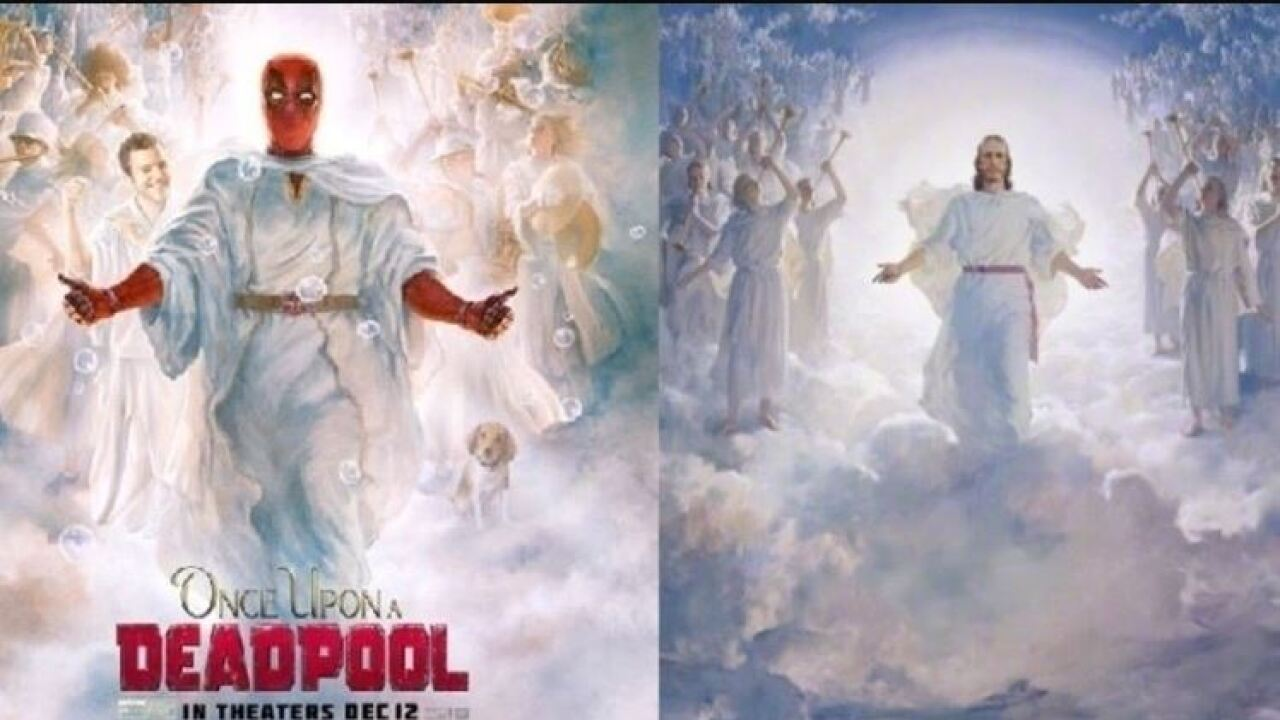 Outrage over a 'Deadpool' poster that mimics an iconic LDS painting of Jesus Christ