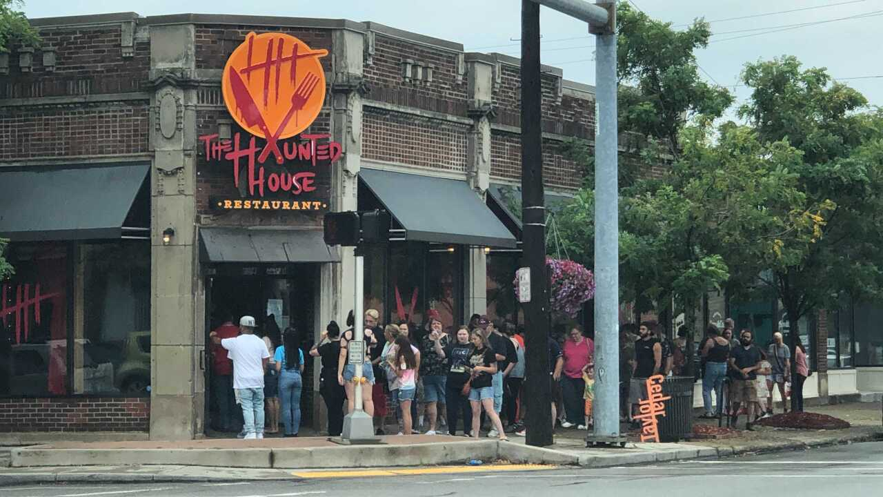 Haunted House Restaurant line Cleveland Heights