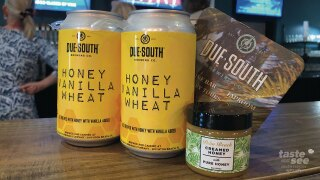 There is a buzz in the air about a new beer from Due South Brewery in Boynton Beach. Two local businesses have collaborated to make a limited-time seasonal offering just in time for those hot scorching days.  It's called 'Honey Vanilla Wheat' and it's available Wednesday from Brown Distributing.