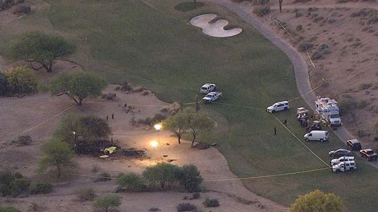 Plane crashes on TPC Scottsdale champions course