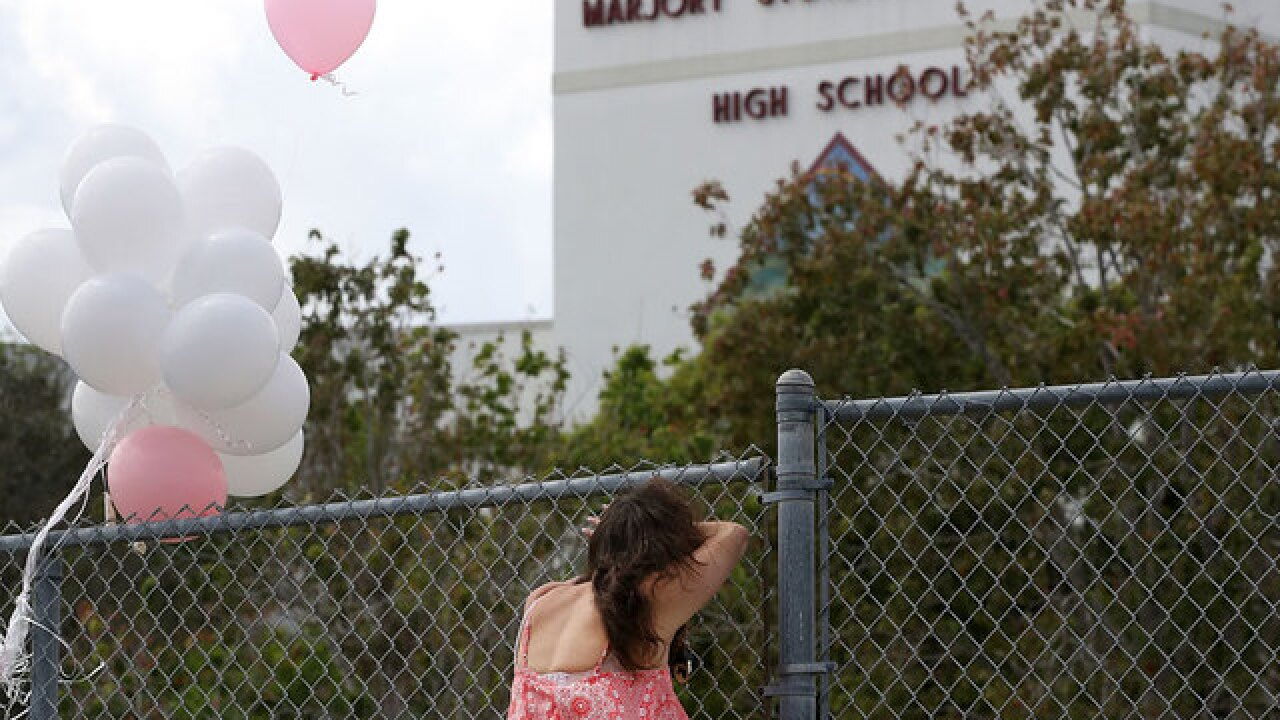 Students return to class at Stoneman Douglas HS