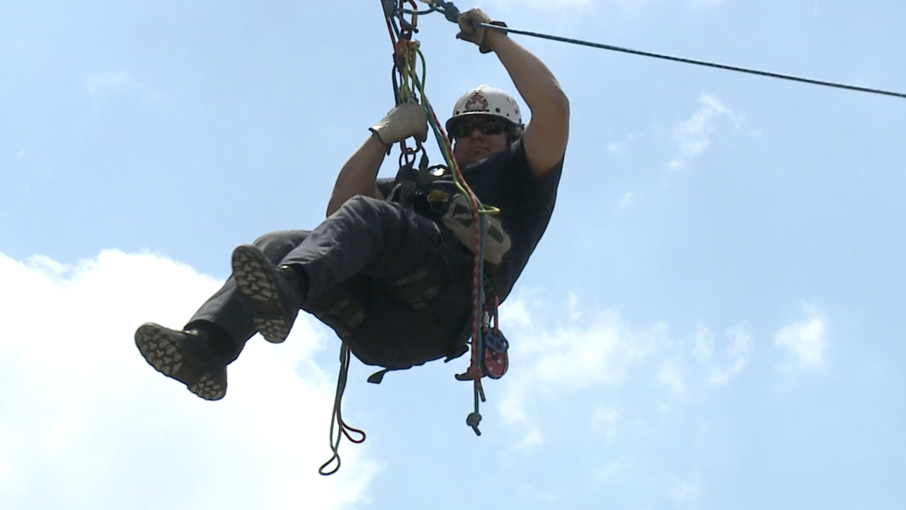 Grand Rapids Fire Department conducts rope rescue exercise