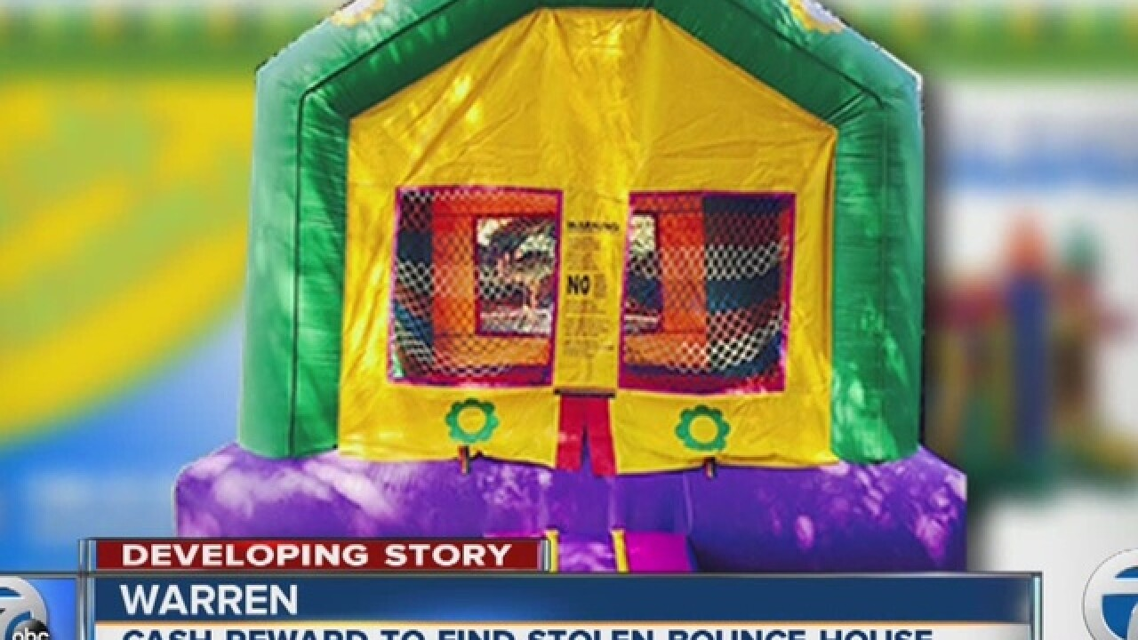 Thieves steal custom bounce house in Warren
