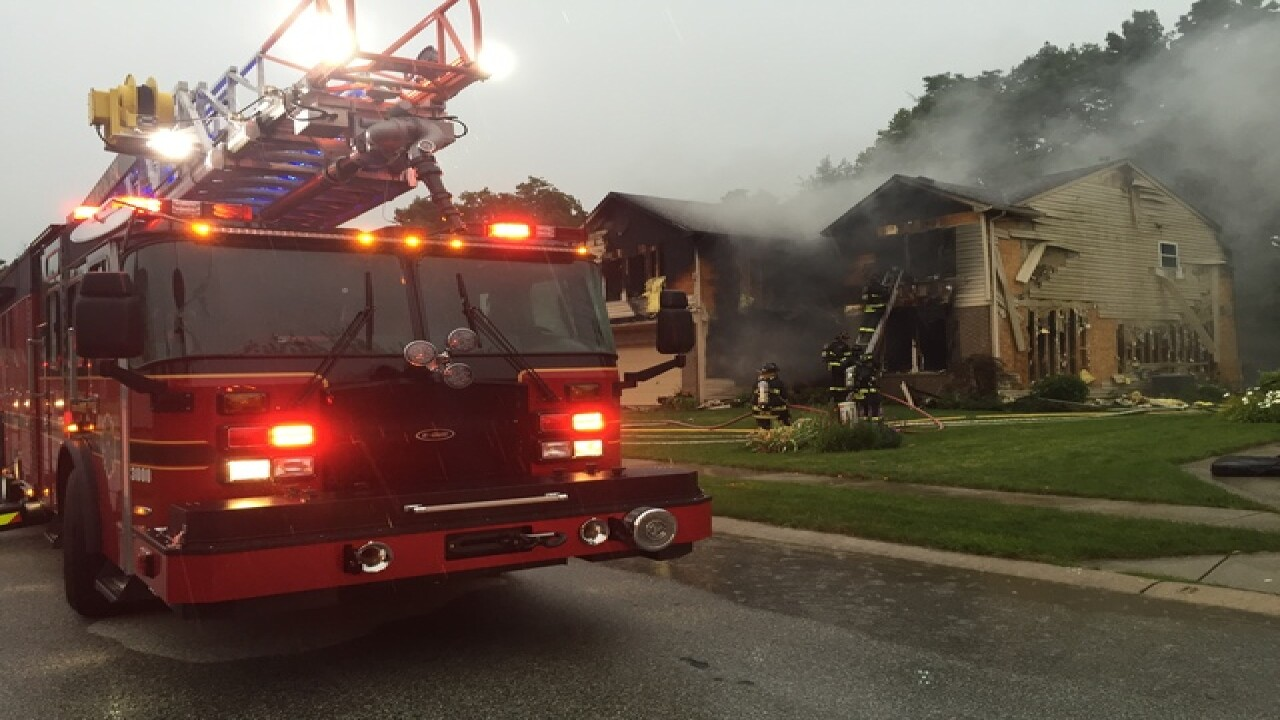 Family not home when fire damages house