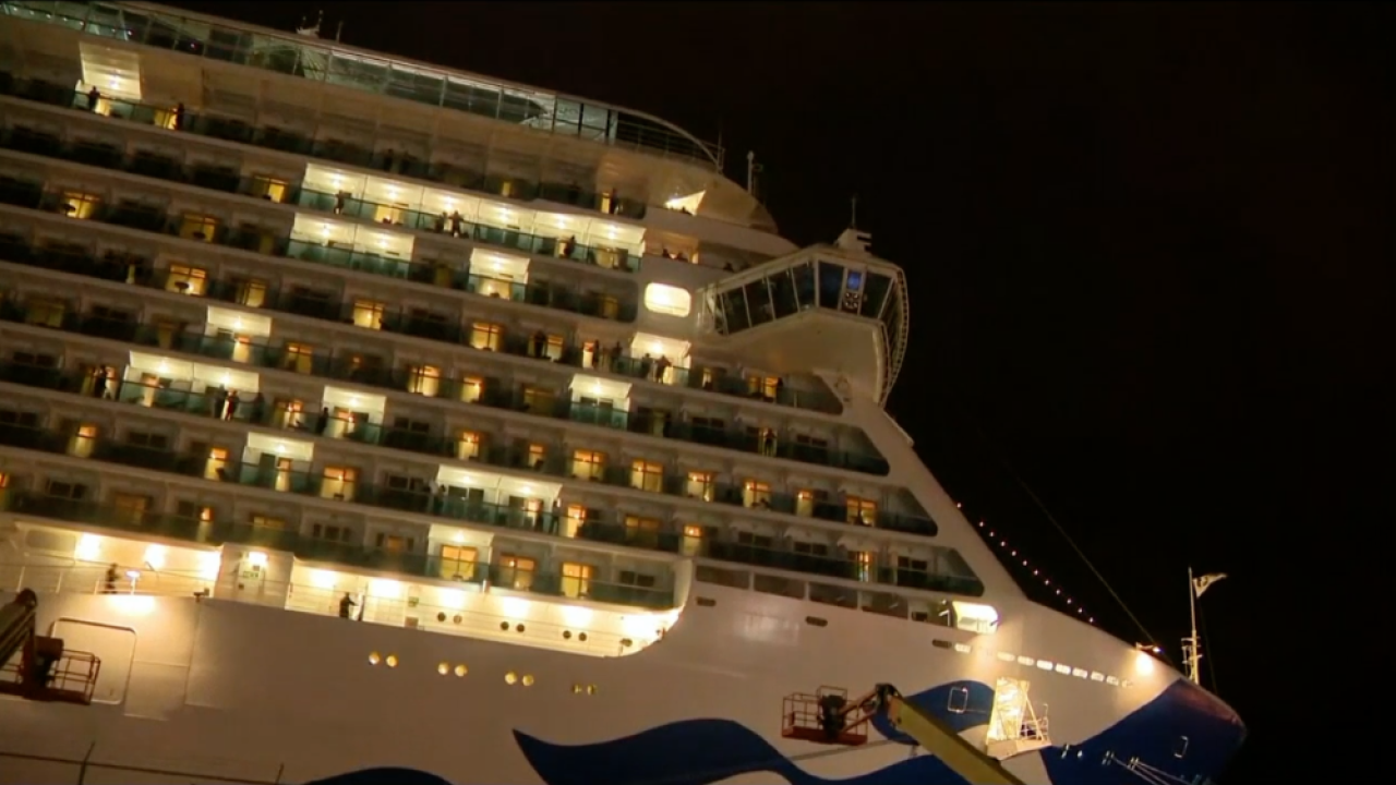 Regal Princess cruise ship docked Port Everglades