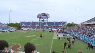 FAU Stadium 2020 season opener view from stands