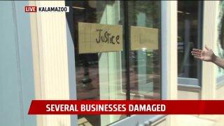 Kalamazoo riot damage justice graffiti.jpeg