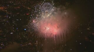 fireworks downtown nashville