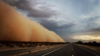 PHOTOS: Massive dust wall hits the Valley