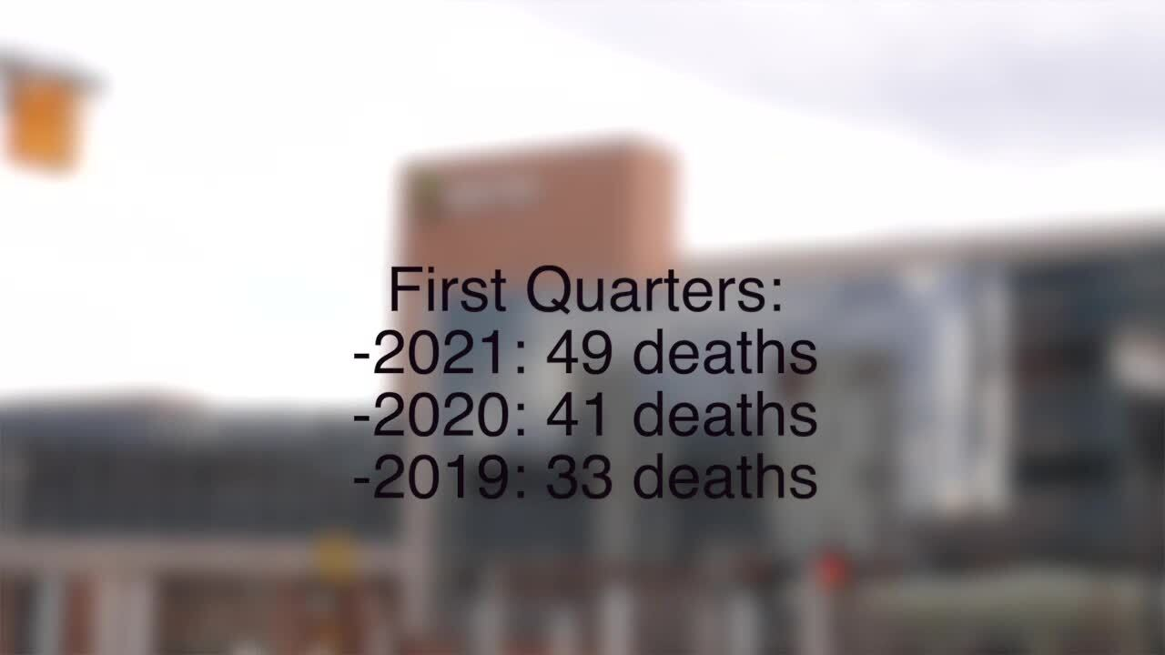Deaths in Ingham County from drug overdoses