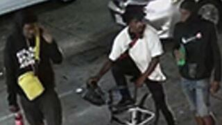 Police search for men who assaulted homeless person