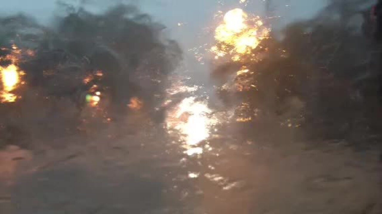 Raw Video: Heavy rain in Norfolk at Colley Ave. and Baldwin