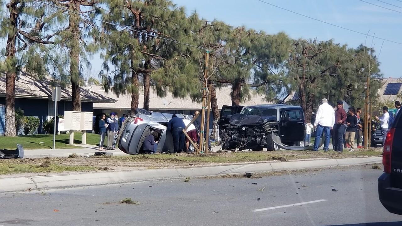 Panama Lane closed following car crash