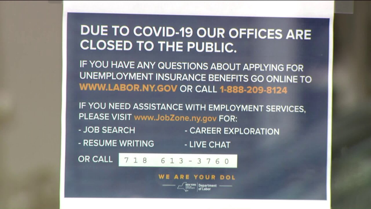 Closed unemployment office
