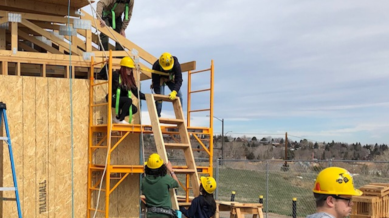GMHS students take geometry, build a house