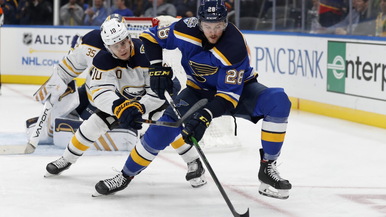 Sabres fall to Blues, 5-1