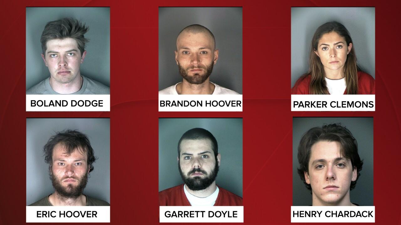 CU Boulder party arrests_Boland Dodge, Brandon Hoover, Parker Clemons, Eric Hoover, Garrett Doyle, Henry Chardack