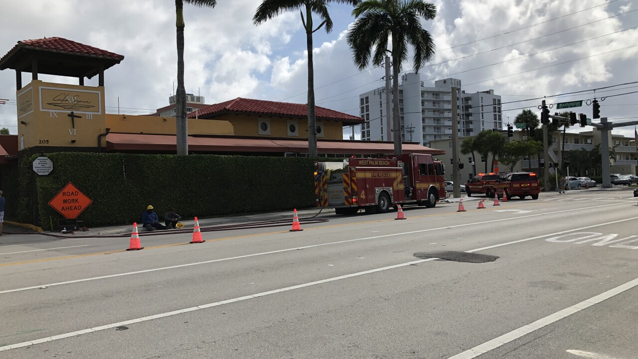 Gas leak on Southern Boulevard on Saturday, May 23, 2020.