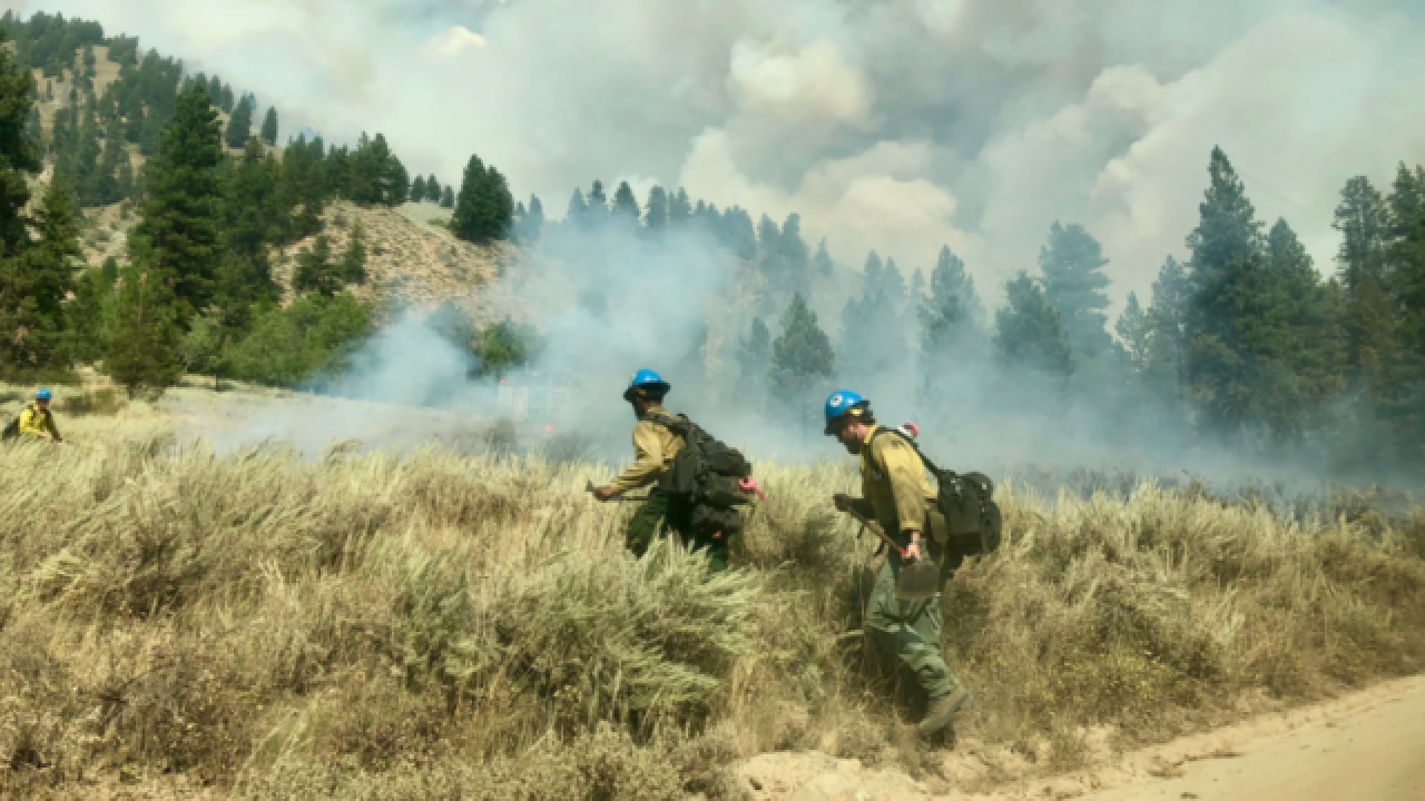 Evacuations underway for Idaho wildfire