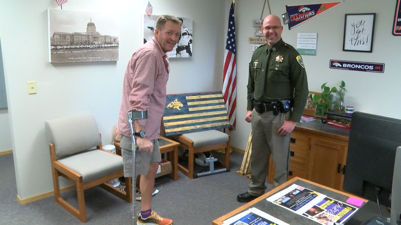 Sgt. Betz after losing leg to cancer