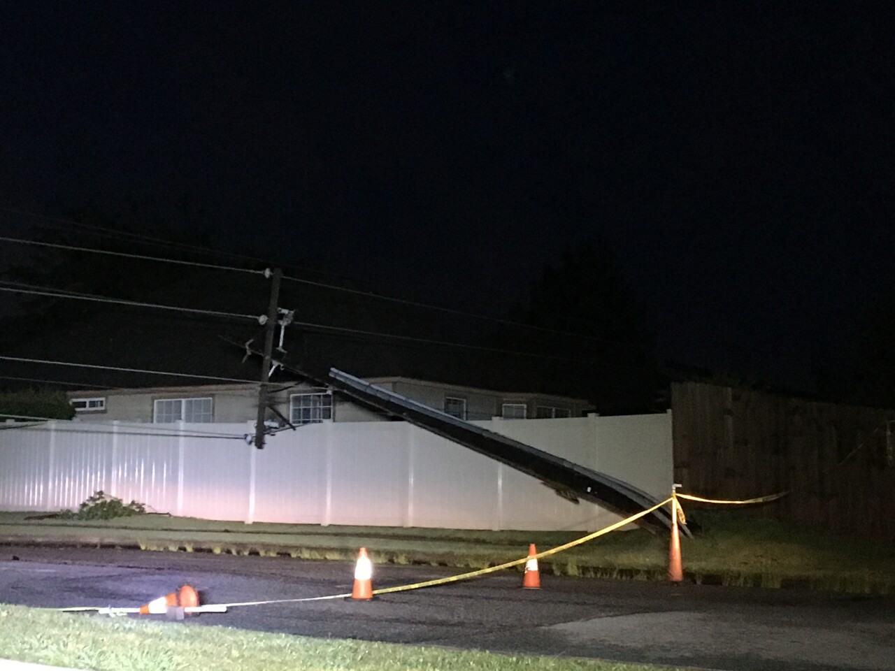 Power pole near 91st and Aspen in Broken Arrow