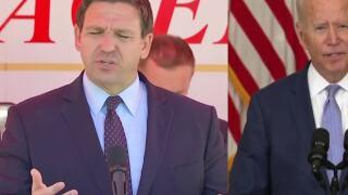 Gov. Ron DeSantis showing 'Trumpian' side in feud with President Biden