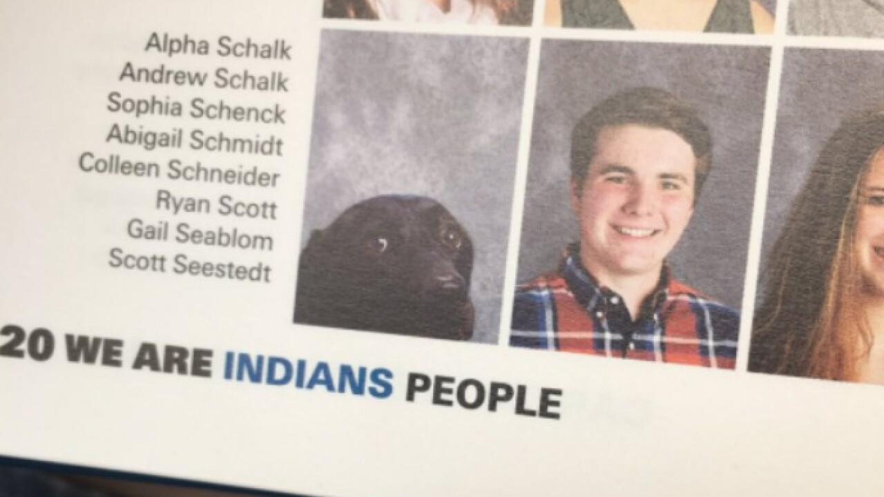 School yearbook photo of Virginia student's service dog goes viral
