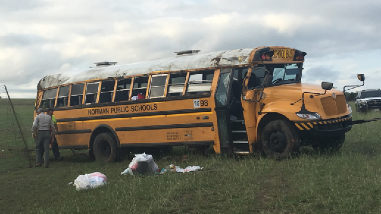 School bus rollover northwest of Austin